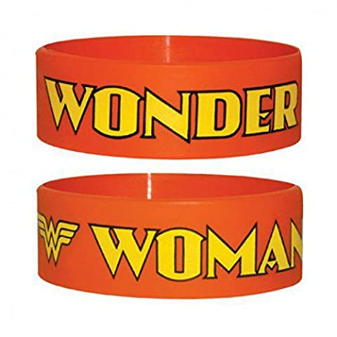 Set: Wonder Woman, Orange Bracelet (6x2 cm) + 1x Sticker Surprise 1art1®