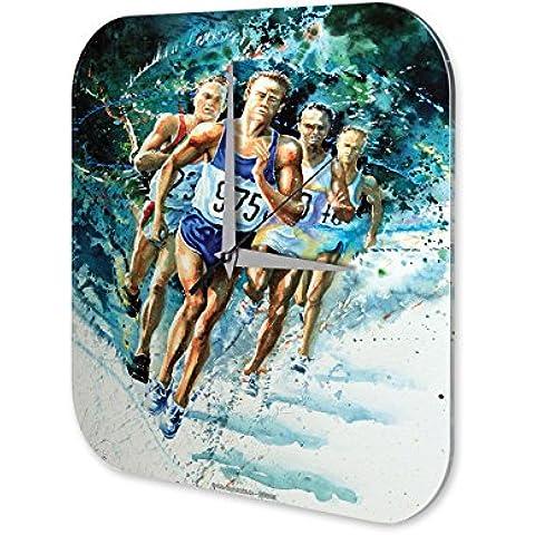 Reloj De Pared Nostálgico Sprinter atleta Plexiglas Impreso