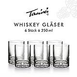 Occhiali per whisky, Cognac, pesante, in vetro soffiato, con bolla d' aria in dicken Boden, elegante e di qualità.
