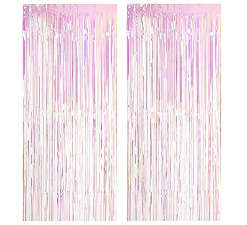 Easy Joy 2 Pack Big Metallic Tinsel Curtains