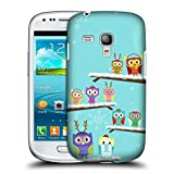 Head Case Designs Winter Eule Weinachten Ruckseite Hülle für Samsung Galaxy S3 III mini