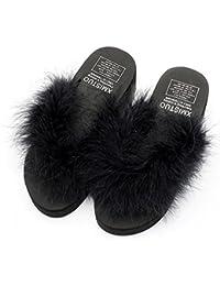 Zapatillas deslizadizas deslizadizas del verano femenino de los fracasos de tirón de la manera Al aire libre de tacón alto fresco con 7 colores ( Color : #7 , Tamaño : EU36/UK4/CN36 )