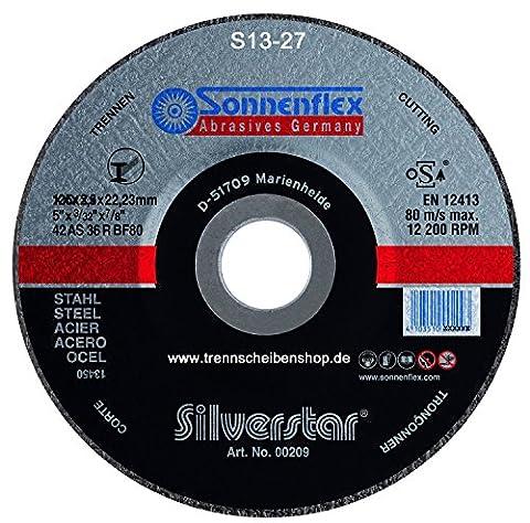 10x Trennscheibe, S21_Ø 125 x 1,0 mm, Sonnenflex Stahl, Metall, Guß, Eisen Premium-Qualität.