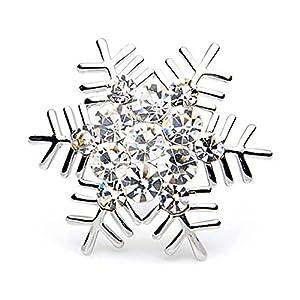 Fajewellery Damen Strasssteine Schneeflocken Blume Brosche broschen für Kleidung