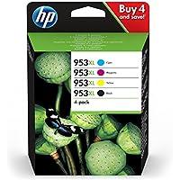 HP 953XL (3HZ52AE) Cartucce Originali di Inchiostro, Compatibile con HP OfficeJet Pro 8710, 8715, 8718, 8720, 8725, 8730, 8740, 7740 Grandi Formati, Confezione da 4, Nero/Ciano/Giallo/Magenta