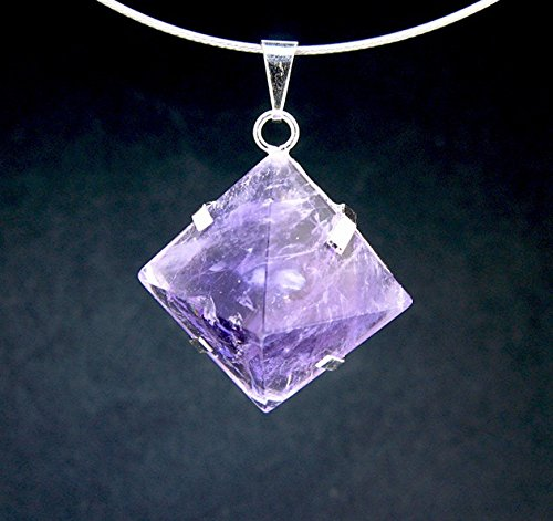 Mineral Import - Pyramid Pendant with Amethyst Staples - 3434VC