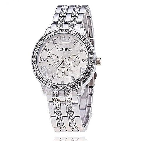 bysor (TM) Geneva Montre de luxe en acier inoxydable étanche montre militaire montre femmes montres relogios