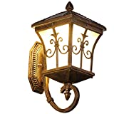 Jenify Solar Wall Lights Outdoor Lighting Solar Torches Wireless Waterproof Wall Mounted Night Lightsfence Lights Solar Powered Garden/Front Door/Patio Wall Lights