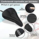 Zacro-Gel-Sella-Della-Bici-Professionale-per-Ciclismo-Seggiolino-extra-morbido-in-gel-Alta-Qualit-Coprisella-in-Gel-per-bici-Cuscino-sella-per-Bici