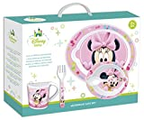 Set di stoviglie per bambini, utilizzabile in microonde, motivo baby Minnie Mouse, 5 pezzi