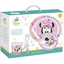 Disney Baby – Set de microondas, 5 piezas, diseño de Minnie Mouse