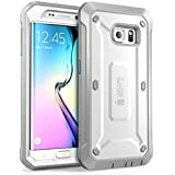 Samsung Galaxy S6 Edge Gehäuse / Hülle , SUPCASE Unicorn Beetle PRO Serie Schutzhülle / Tasche / Zubehör (Weiß/Grau)
