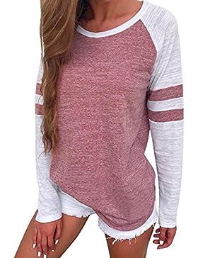 koobea Magliette Donna Maniche Lunghe Autunno Casuale Donna Tshirt Manica Lunga Tops