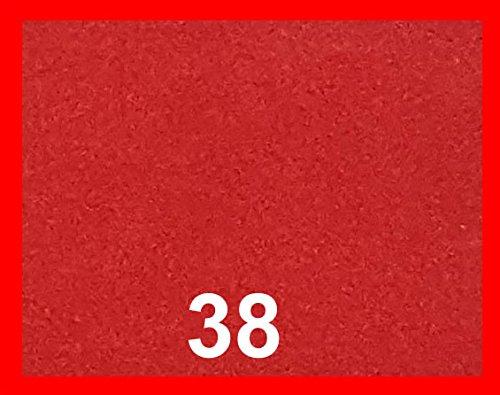 Kadusi Tela Antelina con Tratamiento Repelente al Agua (Impermeable). Perfecto para tapizar.Ancho 160 cm Color Rojo
