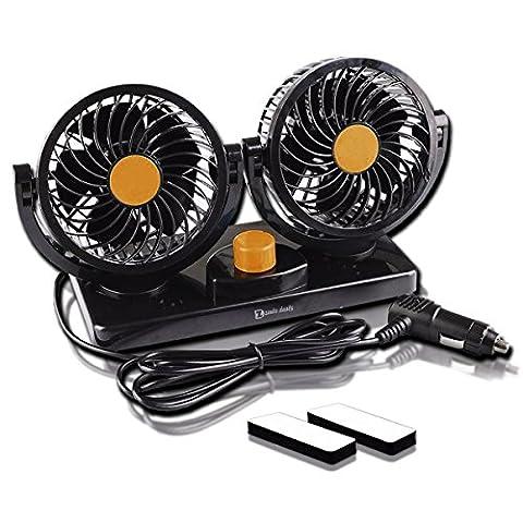 Zento Deals 12V à double tête de voiture auto refroidissement Air Fan