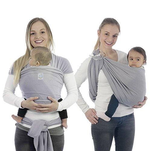 BabyBino Babytragetuch für Früh & Neugeborene in Premiumqualität inklusive Trageanleitung thumbnail