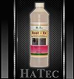 HaTec Rostflecken-Entferner Marmor, Rost-Ex 1 Liter Säurefreier Rostflecken-Entferner, entfernt mühelos Rost von, Marmor, Stein, Beton, Terrazzo, Granit, Fliesen uvm.