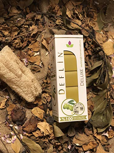 Deflin ✔ Olivenöl Seifen Natur -%100 Handgemacht - aus Olivenöl und Lorbeeröl ''5 Stück 750 Gr'' -