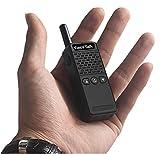 Mini Walkie Talkie Funkgerät EasyTalk ET-M2 70cm UHF 400-520MHz 16chs Small Two Way Ham Radio PMR 446 handfunkgerät ( Schwarz)