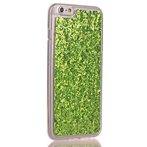 Coque Housse TPU pour Apple iPhone 6s,SainCat Transparent Brillante Coque Silicone Etui Housse Brillante,iPhone 6 Silicone Case Soft Gel Cover Anti-Scratch Transparent Case TPU Cover,Fonction Support  Vert#