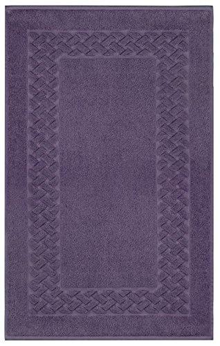 Lashuma Badematte Frottee Lilien - Lila | einfarbige Badewannenmatte | 100% Baumwolle | Royal 50 x 80 cm -