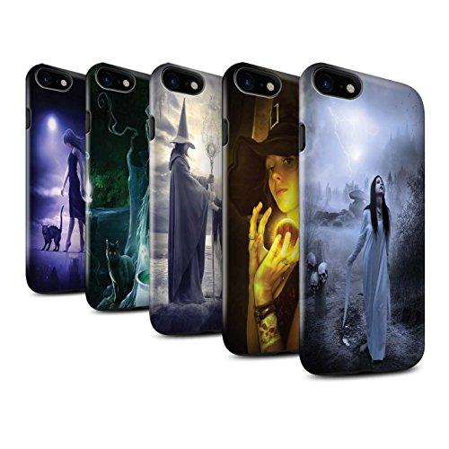 Officiel Elena Dudina Coque / Brillant Robuste Antichoc Etui pour Apple iPhone 8 / Orbe/Sorcellerie Design / Magie Noire Collection Pack 6pcs