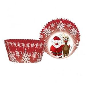 Amscan Christmas Santa and Rudolph Cupcake Cases