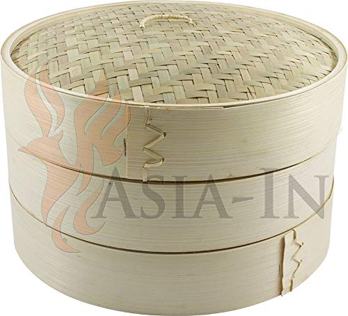 Bambusdämpfer 3-Teilig 25 cm Bamboo Steamer Set Bamboo Steamer Set