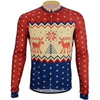 REdbEAR Men s Christmas Jumper Thermal Cycle Jersey - Long Sleeve Windproof  Cycling Top - For Road. See Size Options 7df08138d