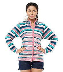 Perroni Women's Embroidered Cardigan (Pink, L Size)