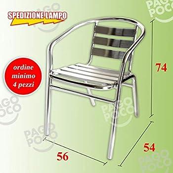 Sedie In Alluminio Per Bar Usate.San Marco Smdc101x6 6 Sedie Alluminio Impilabili Per Bar Da Interno