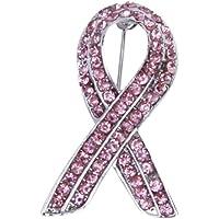 Rosa Cristallo Strass Consapevolezza Del Cancro Al Seno Pin Nastro Spilla