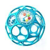 Oball - Rattle 10 cm Spielzeug mit Rasselperlen Hellblau