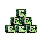 adesugata Fußball Captain Armband,Camouflage Fußball Elastic Armband,Klettverschluss für verstellbare Größe, geeignet für mehrere Sportarten wie Fußball & Rugby, grün (6 Stück)