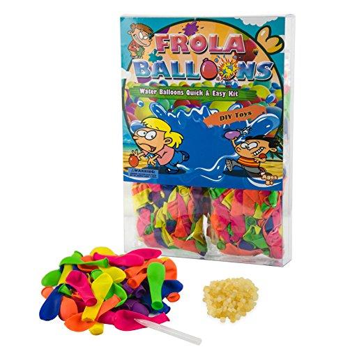 Neue Schnelle Füllen Instrument den Wasserballons Kurzzeitig Füllen Kit - 1000 Ballons + 1000 Gummibänder + 5 Schnell und Einfach mal Instrumente DIY Spielzeug (PVC BOX) -