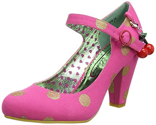 Poetic Licence by Irregular ChoiceThe Right Stripes - Scarpe con Tacco donna , multicolore (Multicolour (Pink/Gold)), 38 EU