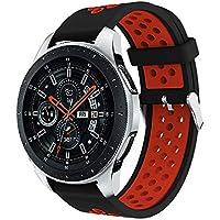 samLIKE Pulsera de Silicona para Samsung Gear Watch Ajustable Suave Transpirable Brazalete Deportivo para Hombre y Mujer, Perforado para Samsung Galaxy Watch 46mm, Color �� B