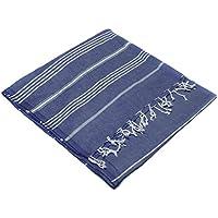 Turkish Emporium a righe 100% cotone, intessuta a mano asciugamano Fouta pestemal, 100% cotone, Denim, 95 x 175 cm