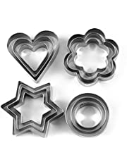 Grizzly Cookie Cutter Stainless Steel Cookie Cutter with 4Shape, 12 Pieces