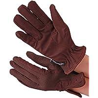 Condados todo el día (194) guantes de equitación, color Marrón - marrón, tamaño mediano