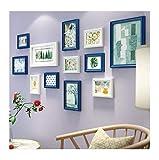 Unbekannt [Loves] pcs Schwarz Bilderrahmen Set 12 stücke Große Multi Holz Bilderrahmen Collage, Kiefer Holzrahmen Kombination Wohnzimmer Wand-dekor 134 * 64 cm