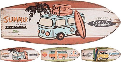 Elyte Letrero de madera para tabla de surf, para verano, playa, vacaciones, 3 diseños diferentes y originales, se puede utilizar en interiores o al aire libre, ideal como decoración de pared