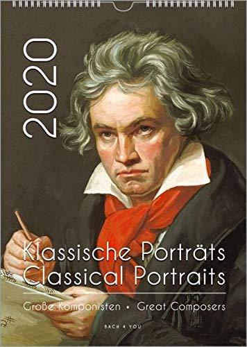 Komponisten-Kalender, ein Musik-Kalender 2020, DIN-A3: Klassische Porträts - Große Komponisten / Classical Portraits - Great Composers