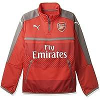 Puma - Chaqueta de entrenamiento para niños, con diseño del equipo Arsenal AFC 1/4, chaqueta con cremallera y 2 bolsillos laterales, Otoño-invierno, infantil, color high risk red-Steel gray, tamaño 140