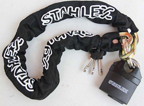 starkes MOTORRADSCHLOSS KETTENSCHLOSS+3 Schlüssel 0,9 o. 1,5m PANZERSCHLOSS 905 (150 Zentimeter)