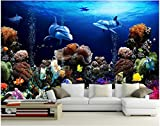 Tapeten Benutzerdefinierte Mural 3D Fototapete Korallenriff Hintergrund Wand Der Sea World Malerei 3D Wandbilder Wallpaper