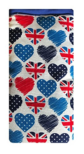British Hearts Print Mobile Phone Sock Pouch for various models