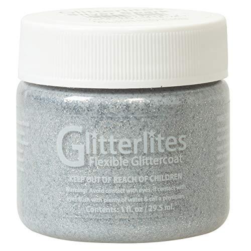 Weaver Leather Unisex-Erwachsene Angelus Glitterlites Paint, Silver Spark, 1 oz. Farbe, Silber,
