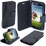 BOOK CASE FANCY Für Sony Xperia L1 G3311 G3313 Cover Handy Tasche Flipcase Etui Buchform Kunststoff Silikon Halterung für Kreditkarten (schwarz / black)