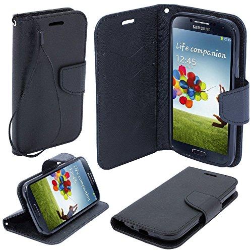 BOOK CASE FANCY schwarz Für Samsung Galaxy S3 GT-i9300 / Samsung Galaxy S3 Neo GT-i9301I S3 9300 Cover Handy Tasche Flipcase Etui Buchform Kunststoff TPU Halterung für Kreditkarten (Mk Galaxy S3 Case)